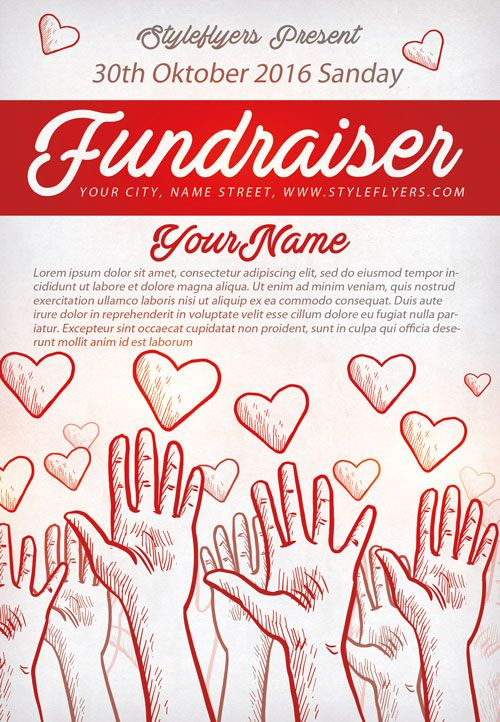 Community Fundraiser Free Flyer Template  HttpFreepsdflyerCom