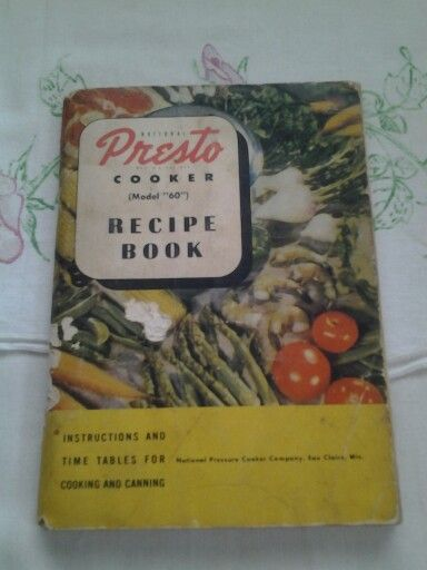 61a604d889997 Vintage National Presto cooker recipe book 1945 cookbook | vintage ...
