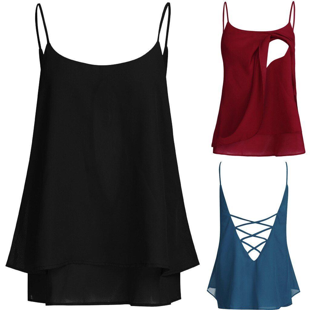 Women Maternity Nursing Summer Vest Solid Sleeveless Blouse Tee T Shirt Tank Top