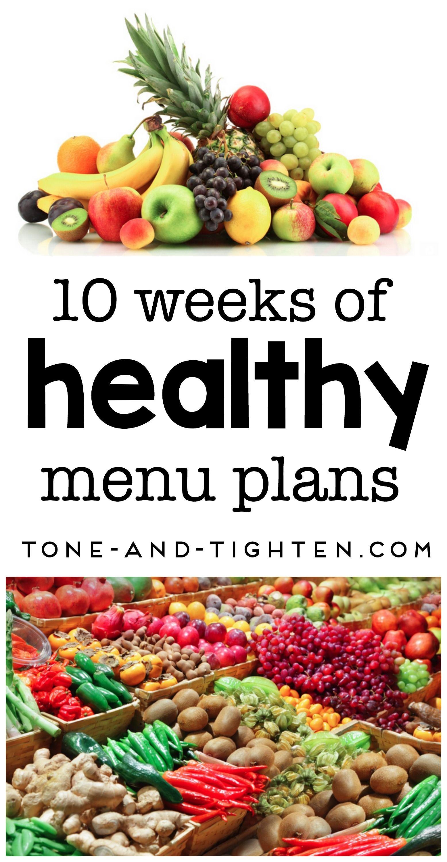 10 of the Best Healthy Menu Plans Healthy menu, Healthy