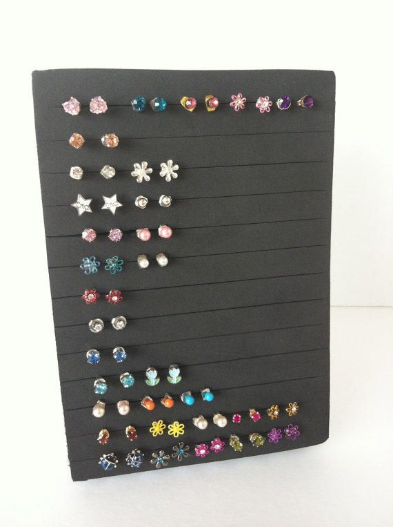 Post Earring Holder Jewelry Organizer show off your bling P