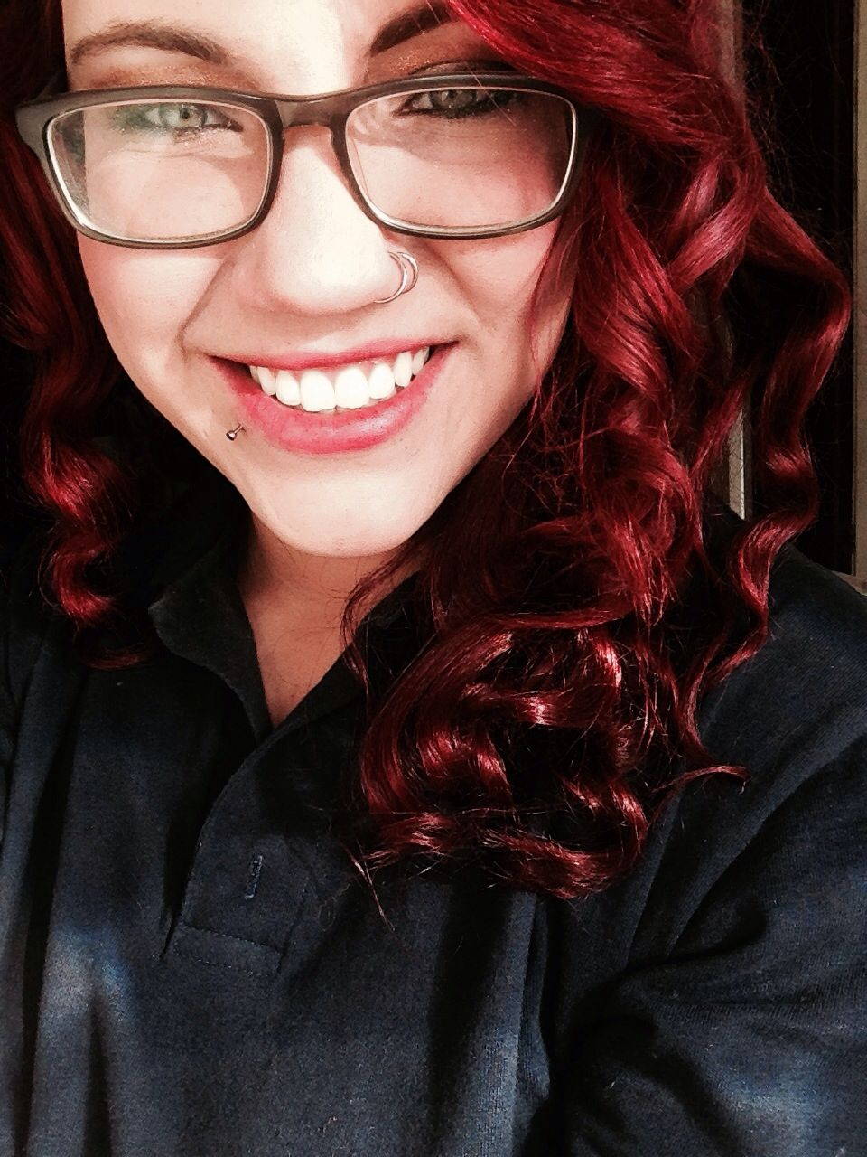 Double nose piercing  Lip ring Double nose piercing Sears Red hair  ink  Pinterest