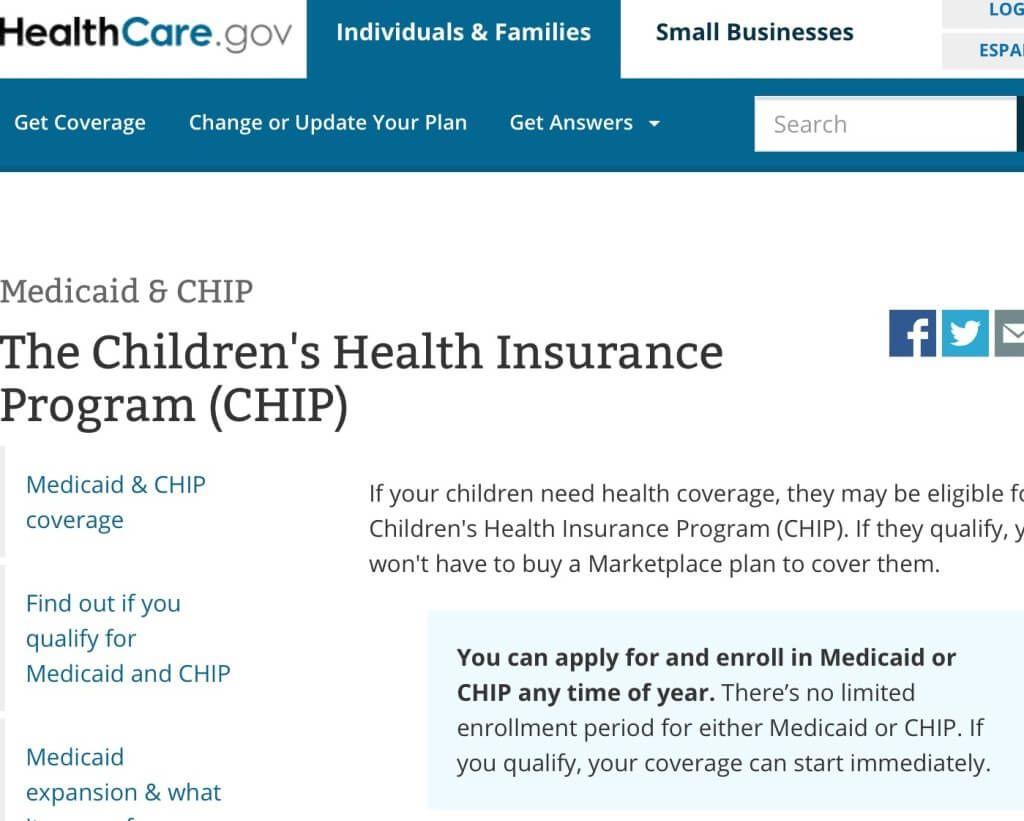 What Is Children S Health Insurance Program Chip Childrens