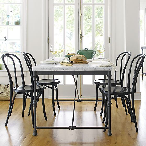 I Ve Obsessed With This Table They Have A Round One Too French Kitchen Bistro In Dining Tables Crate And Barrel