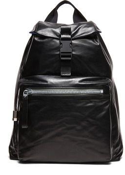 435f28efe78 Lanvin Leather   Nylon Backpack in Black on shopstyle.com   black ...