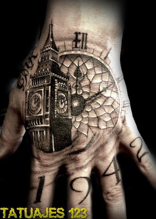 Un Reloj En La Mano Tatuajes En La Mano Tatuajes Del Tiempo Tatuajes Chiquitos