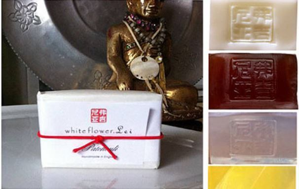 Swindon in the Past Lane: White Flower Lei soaps by Virginia Hey