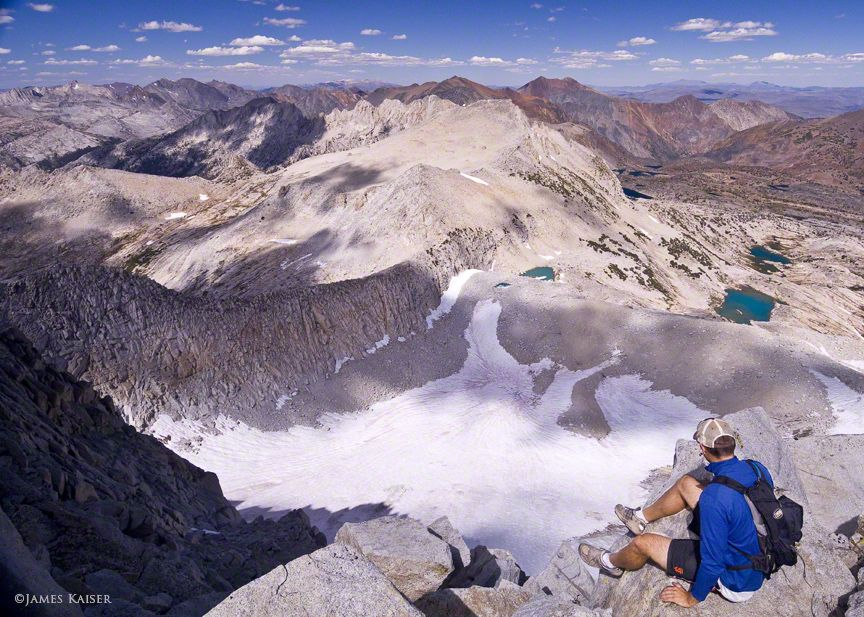 View of Conness Glacier from the top of Mount Conness, Yosemite National Park