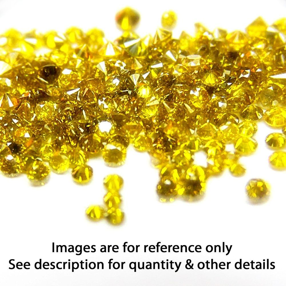 Natural 0.15 Ct Round Single Cut Yellow color Good Quality Loose Diamond Lot #Affinityjewelry