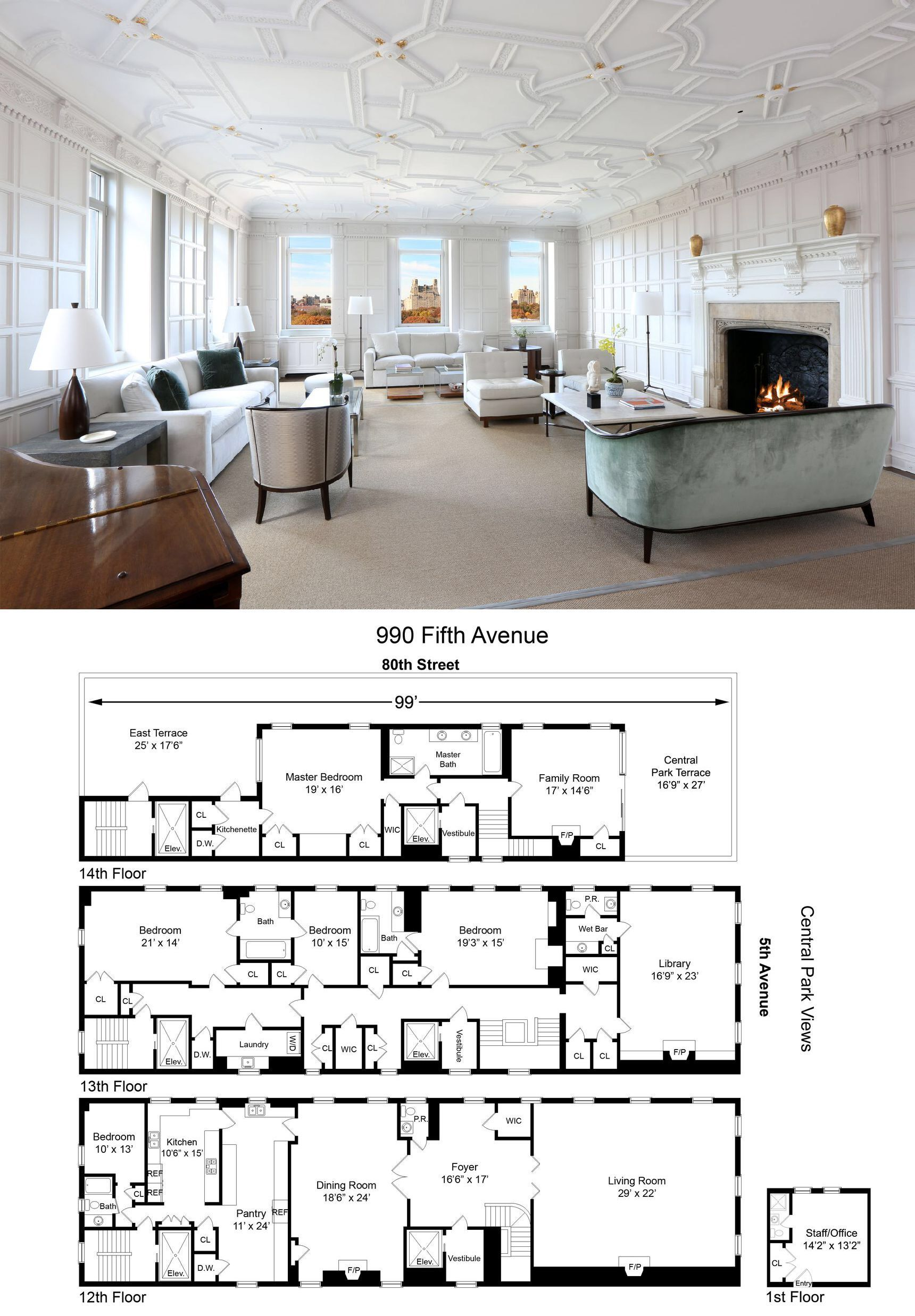For 52m A Huge Triplex In A Rosario Candela Designed Upper East Side Co Op Curbed Ny Apartment Floor Plans House Floor Plans Cabin House Plans