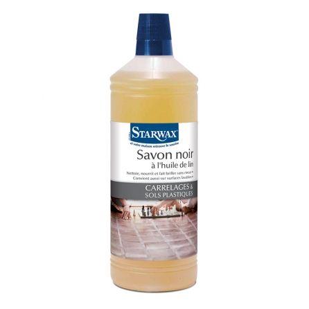 savon noir l 39 huile de lin liquide 1l starwax nettoyant et entretien du sol cleaning. Black Bedroom Furniture Sets. Home Design Ideas