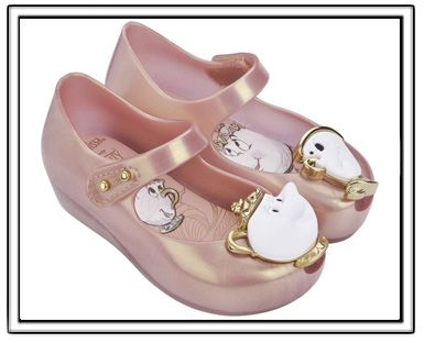 90c38fc1b1be PREORDER-Mini Melissa Beauty   The Beast-Metallic Pink-Mini Melissa Beauty  and the Beast Shoes