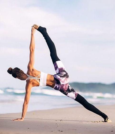 nice Never enough beach yoga....