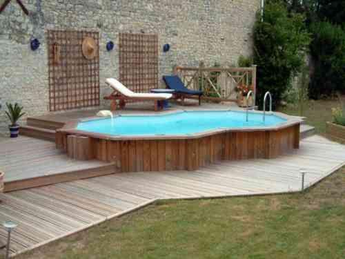 déco de jardin moderne avec piscine hors sol | Small above ...