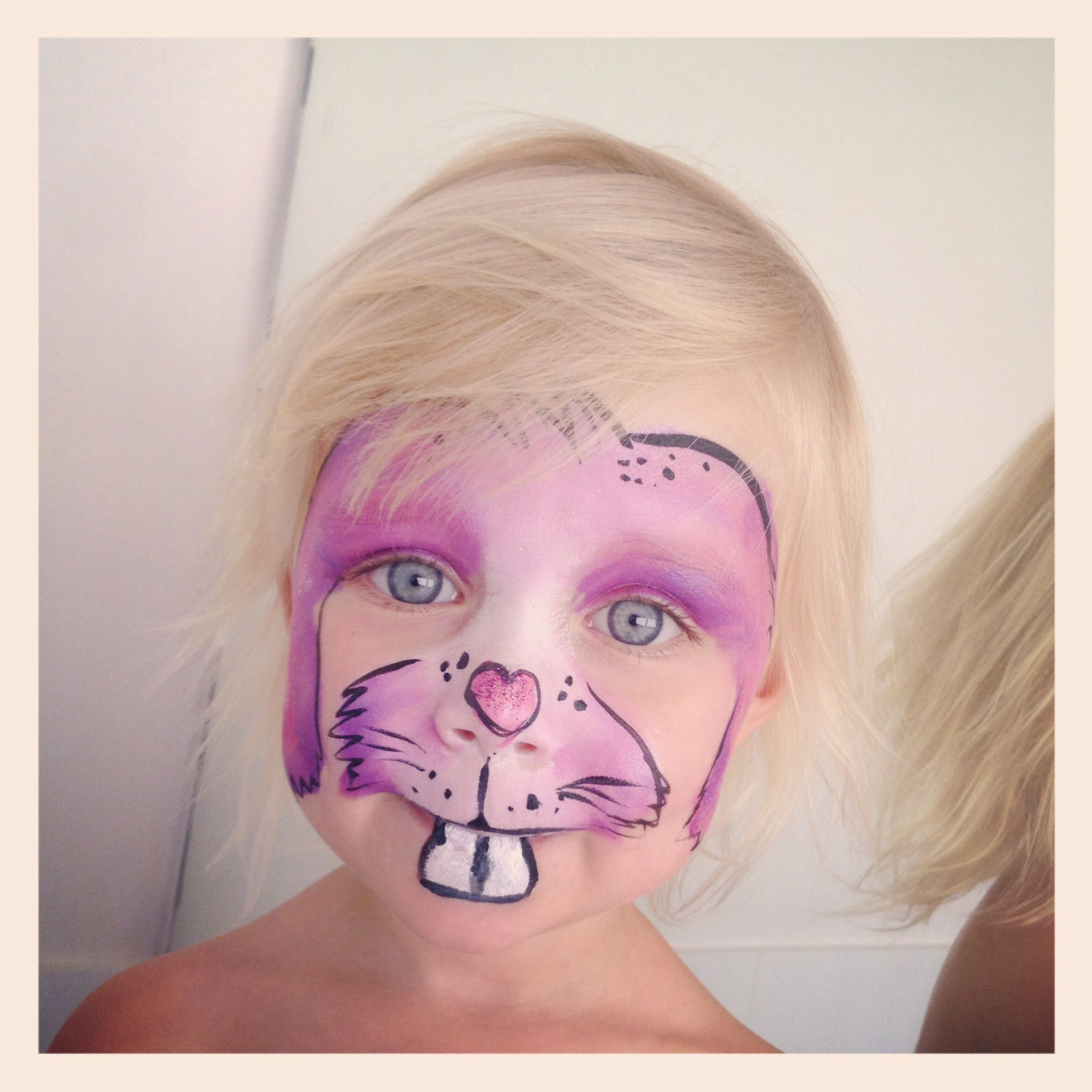 how to face paint a bunny