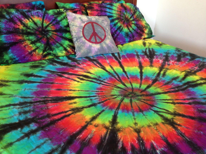 Tie Dye Bedding, Tie Dye Spiral, Swirl, Stripes, Doona
