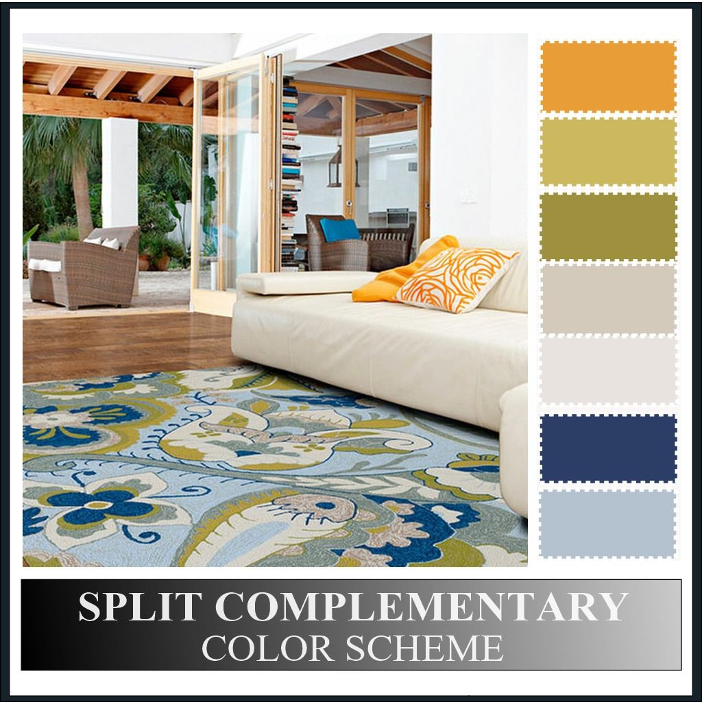Complementary Color Scheme Room: A Beautiful And Colorful Outdoor Designed Using A