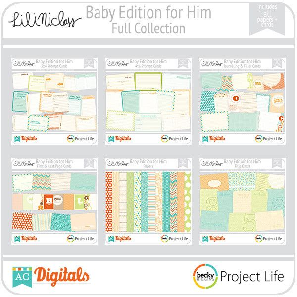 Project Life Baby For Him digital set.  Digital just seems cleaner than getting the paper set :)