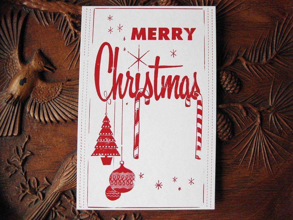 Christmas Letterpress Block