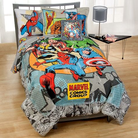 marvel comics book superhero duvet set quilt cover bedding kids