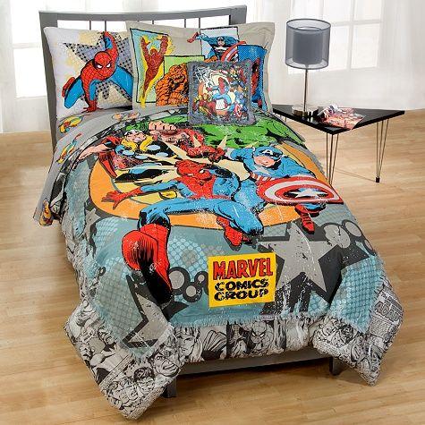 Marvel Vintage Comics Bedding In A Bag Set