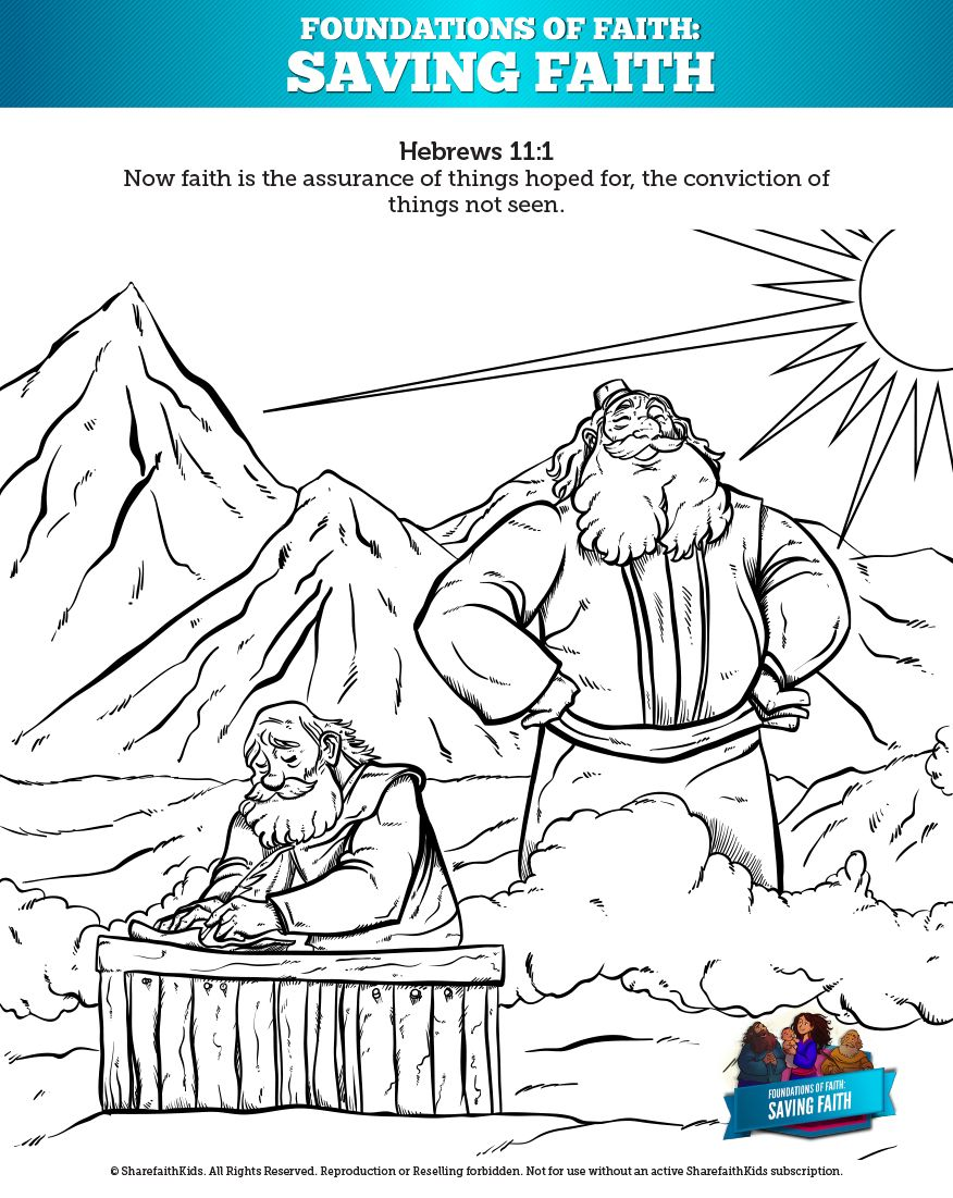 Hebrews 11 Saving Faith Sunday School Coloring Pages Your Kids