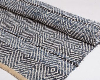 Find This Pin And More On Kudonta By Ttuohipu Denim Blue Rug Made Of Recycled Jeans Woven Cotton