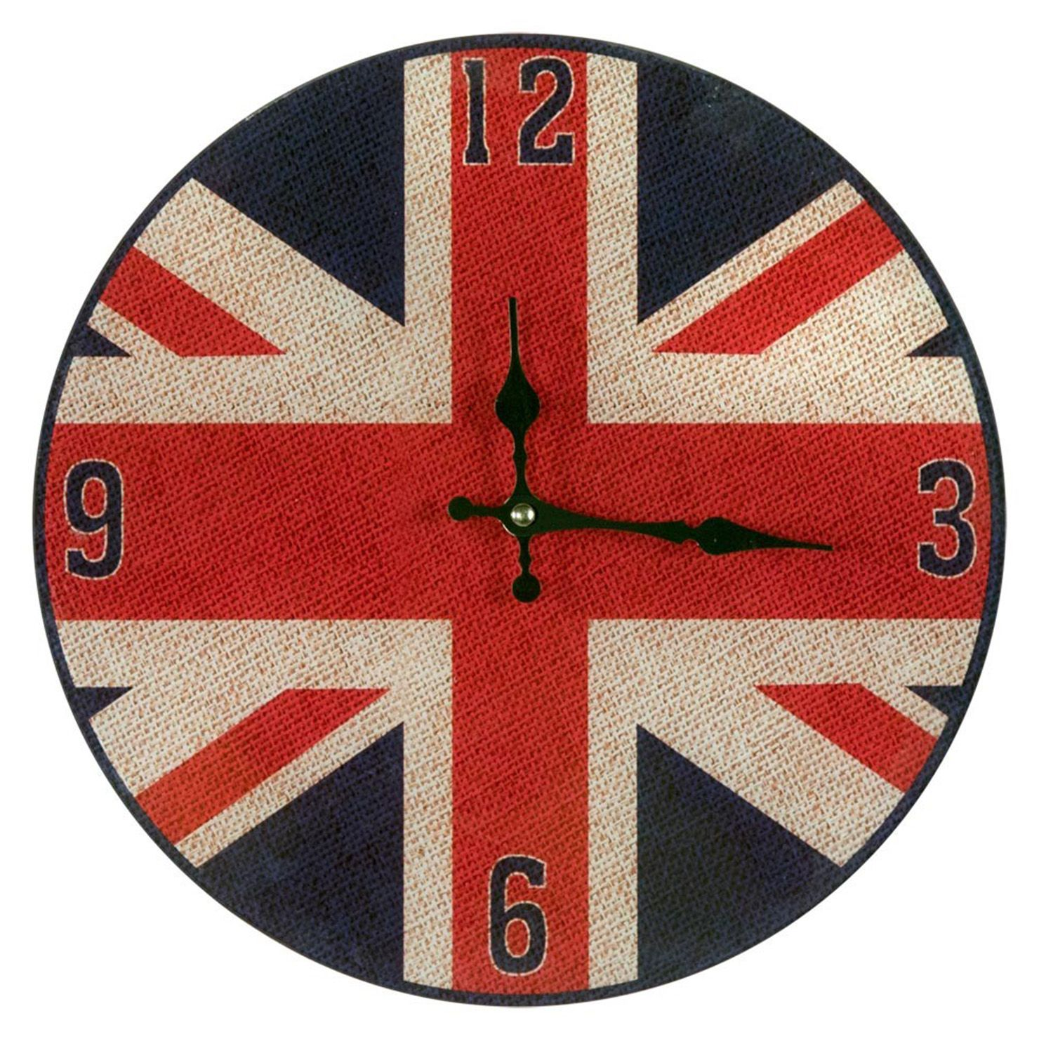 Union jack 30cm clock klok producten en union jack union jack 30cm clock amipublicfo Images