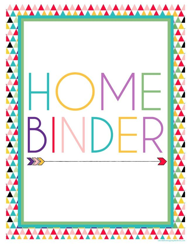 Printable Binder Covers New House-Office Area Pinterest - binder spine template