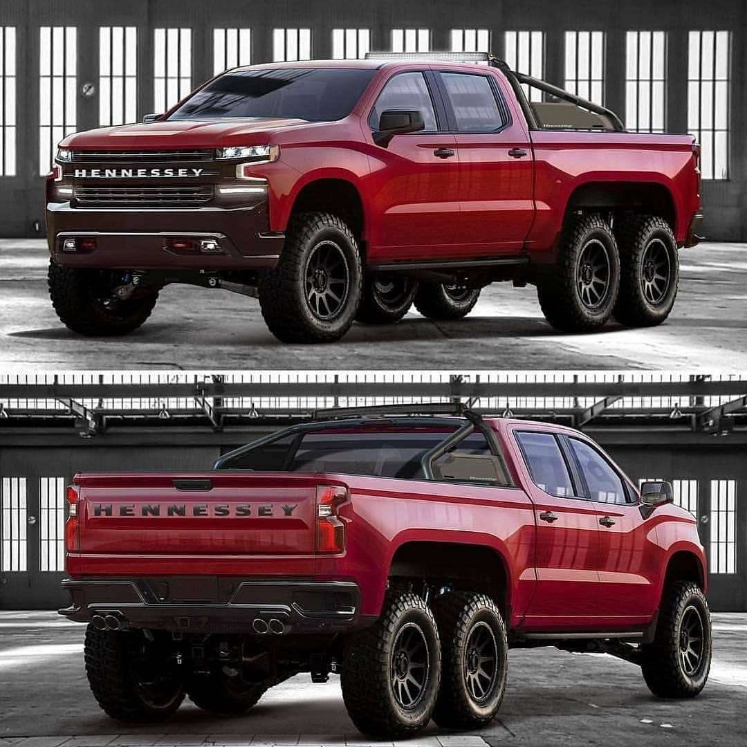 Trucks Usa Pickups On Instagram The Hennessy Goliath 6x6 Built By Hennesseyperformance Too Much Fun Chevy Trucks 6x6 Truck Spark Chevy
