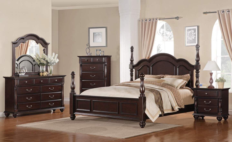 Best Townsford Rich Dark Cherry Master Bedroom Set Master 640 x 480