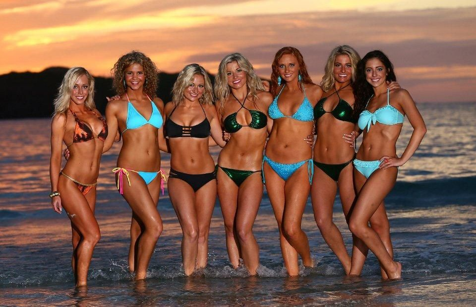 cc73ff05 Sneak Peek of the Kansas City Chiefs Cheerleaders Bikini Calendar ...