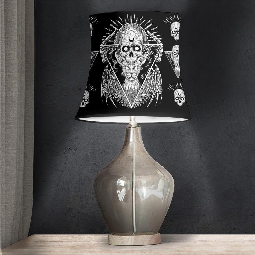 Photo of Gothic Skull Cat Lampshade-Gothic Skull Decor-Gothic Decor-Skull Lampshade-Skull Room Decor | coolediys
