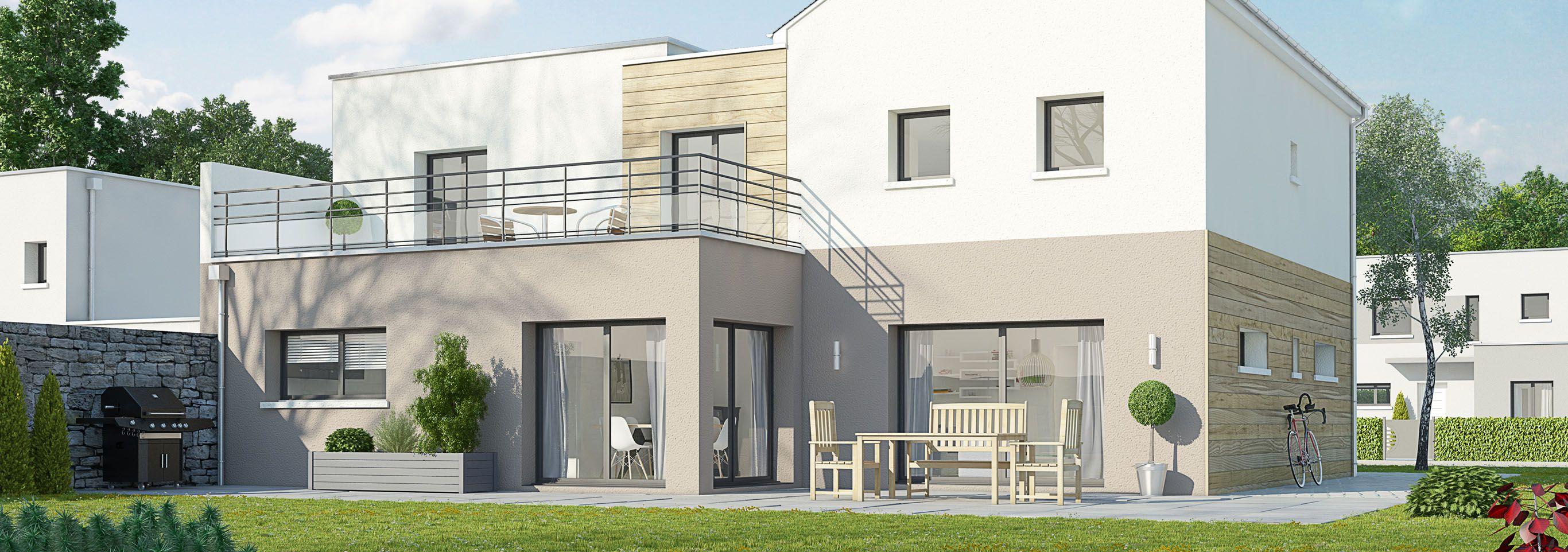 Maison en ligne terre demeure constructeur de maisons individuelles en ile de france - Construction maison en ligne ...