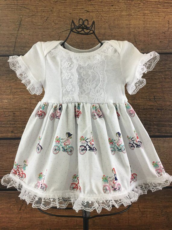 8603827da Vintage bicycles baby dress