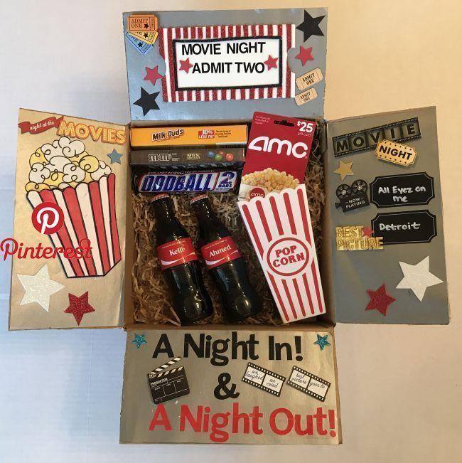 Date Night DIY  Alle Sachen DIY  Pinterest  Geschenke Geschenkkörbe und Filmabende   geschenke boyfriend Date Night DIY  Alle Sachen DIY  Pinterest  Geschenke Gesche...