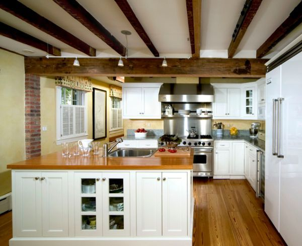 Rustic And Inviting Kitchens Featuring Exposed Ceiling Beams Interior Design Kitchen Small Wood Beam Ceiling Kitchen Ceiling