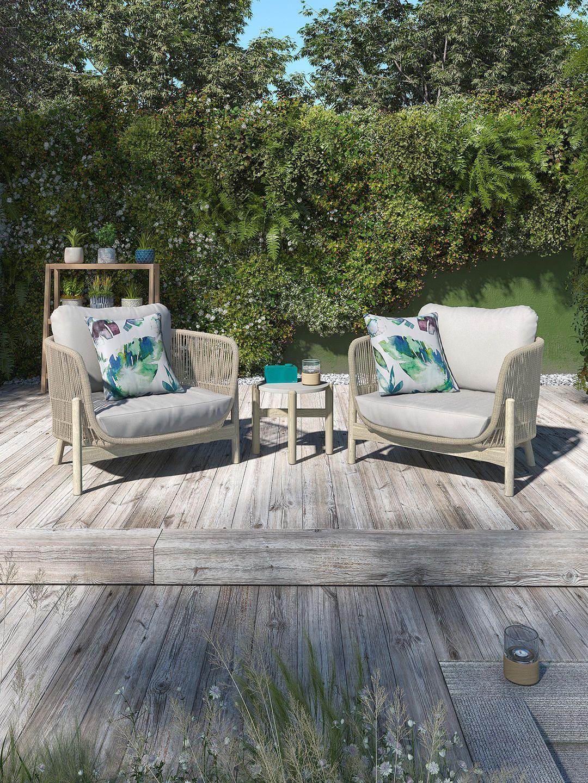 John Lewis & Partners Cradle Rope Garden Lounging Armchair ...