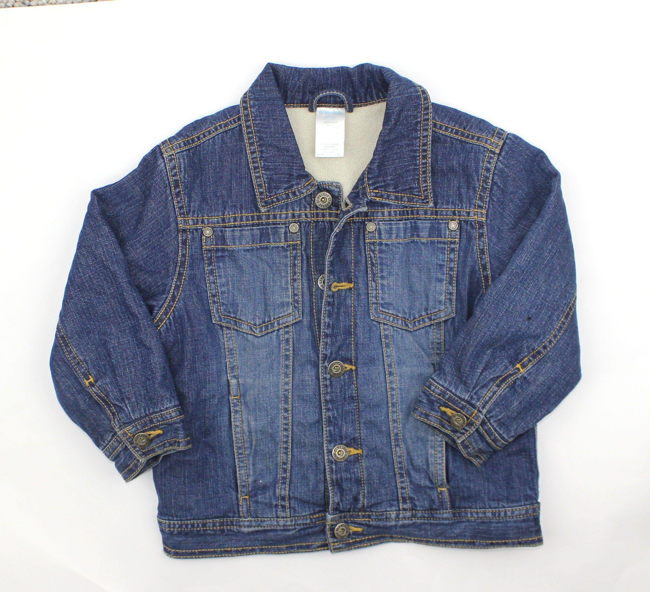 Kids Shearling Lined Denim Jacket By Gymboree In Size 2t 3t Only 6 Online Resale Lined Denim Jacket Girls Jacket Girl Outfits