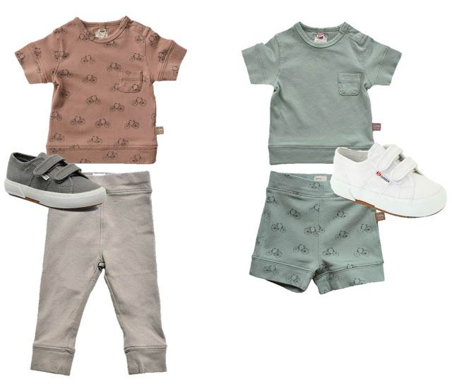 Lötiekids + Superga Stylish summer -  Boys style - Summer soft Tees and muted colour combo