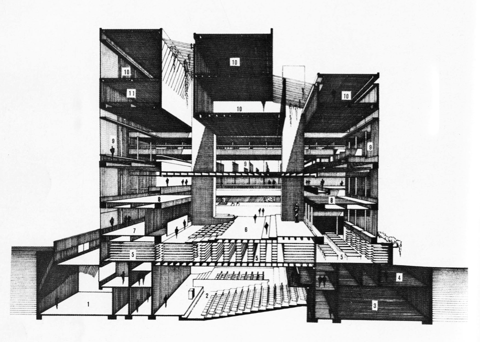 Paul rudolph yale university art and architecture building googleda ara