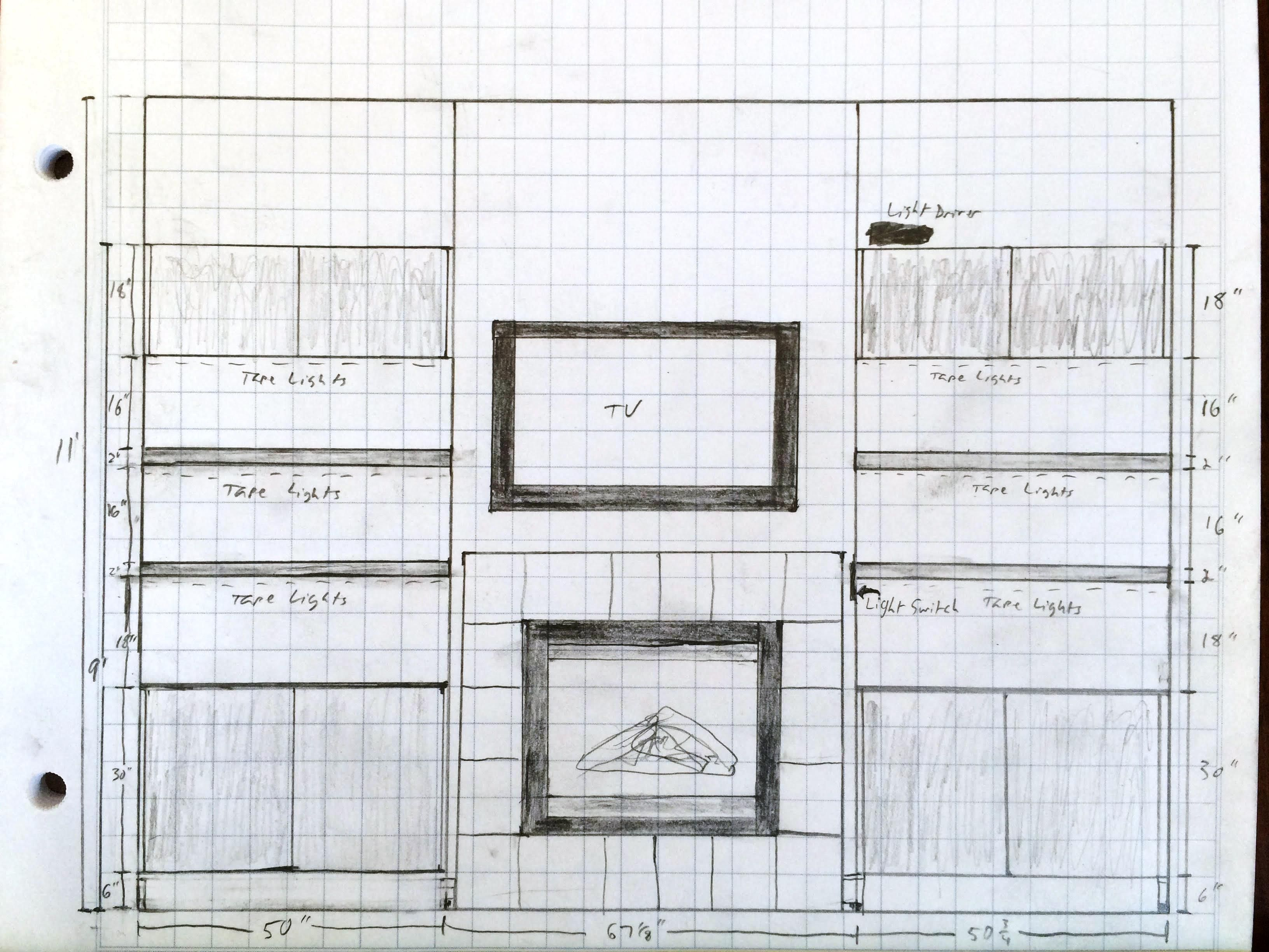 Cadkitchenplans com millwork shop drawings cabinet shop drawings - Simple But Very Detailed And Effective Drawing For Floating Cabinets And Floating Shelves Provided By Client