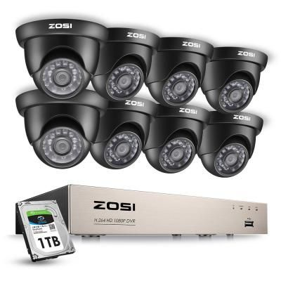 Zosi 8 Channel 1080p 1tb Hard Drive Dvr Security Camera System With 8 Wired Dome Cameras 8cn 418b8 10 Us The Home Depot In 2021 Outdoor Security Camera Security Cameras For Home Wireless Home Security Systems
