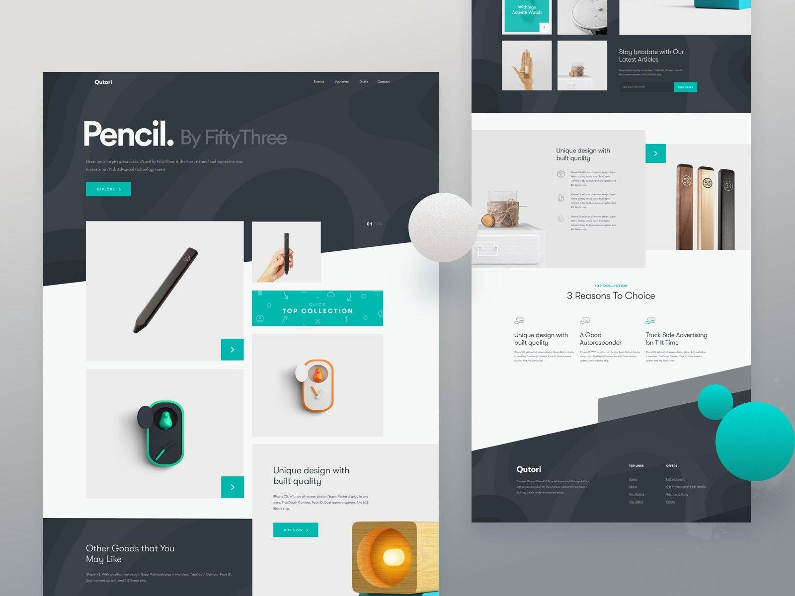 Pencil Product Landing Page Web Design 2018 In 2020 Landing Page Web Design Clean Web Design
