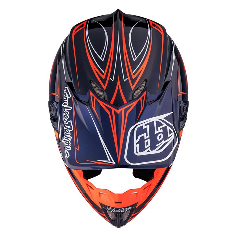 casque cross tld se4 carbon pinstripe navy