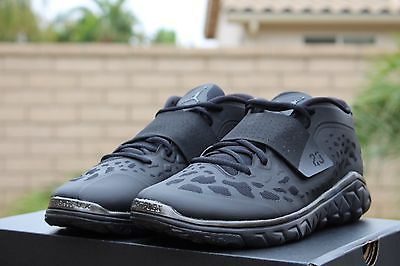a9177055d1594 NIKE JORDAN FLIGHT FLEX TRAINER 2 SZ 7.5 BLACK METALLIC 768911 010 Nike Air  Jordans