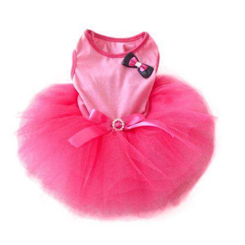 Urparcel Pet Cat Princess Tutu Dress Bow Bubble Skirt Puppy Clothes Dog Dress Apparel Pink S - http://www.thepuppy.org/urparcel-pet-cat-princess-tutu-dress-bow-bubble-skirt-puppy-clothes-dog-dress-apparel-pink-s/