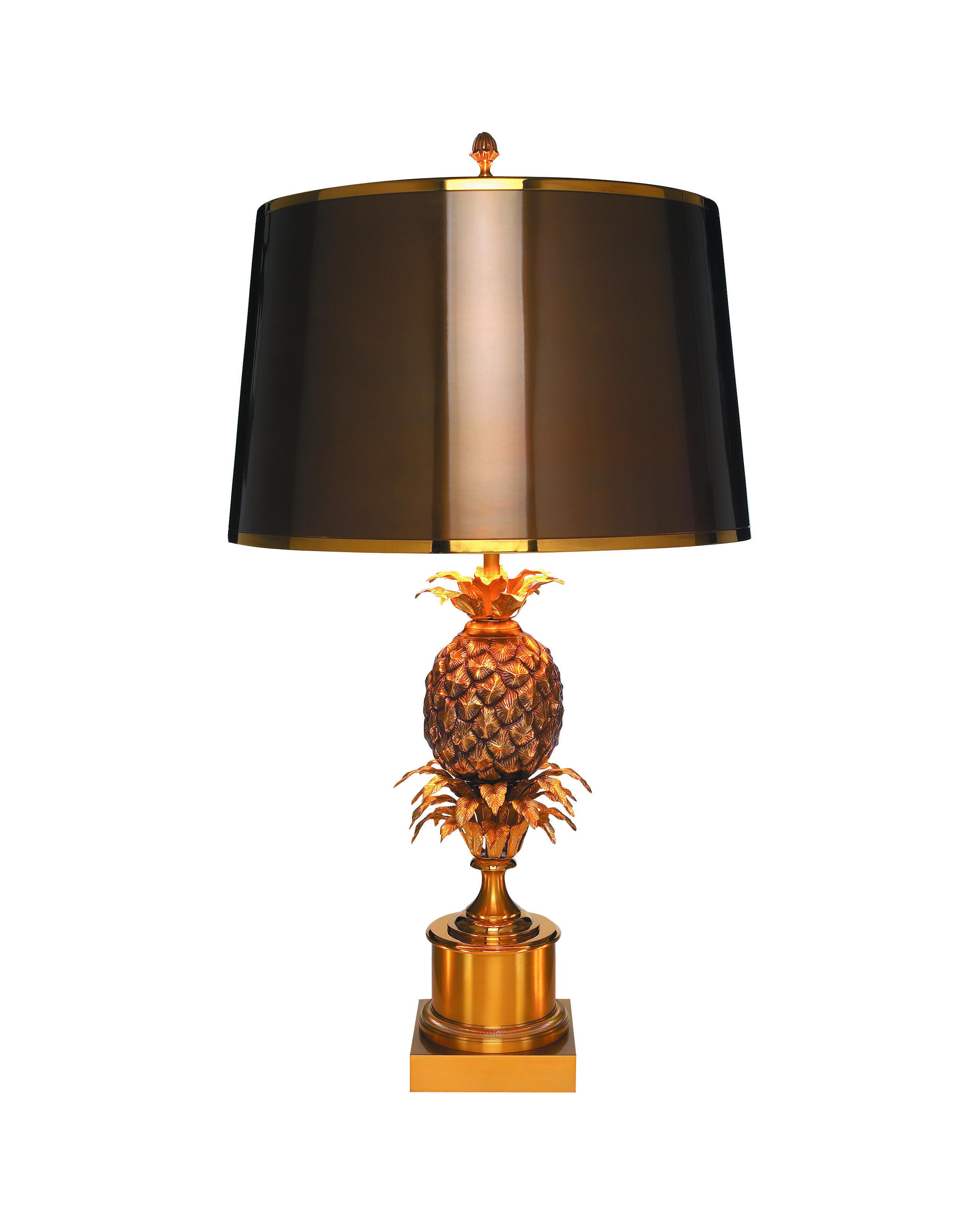 Lampe Ananas De La Maison Charles 1959 Tout En Bronze Avec Un