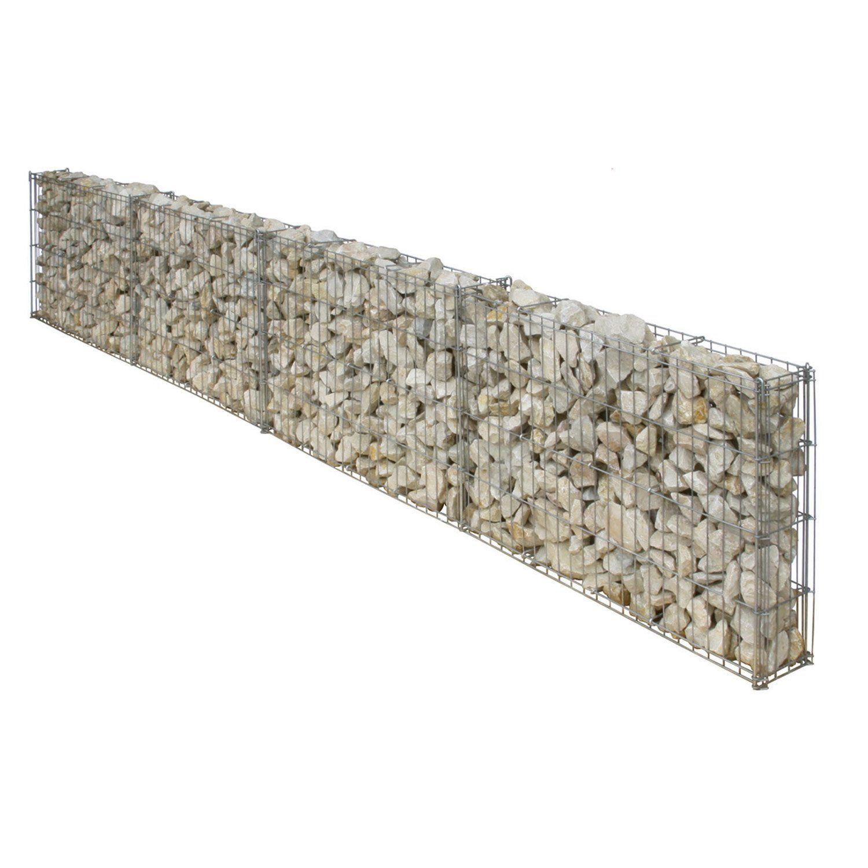 gaviones decorativos para el jard n y jardiner a Gabion - Leroy - 89u20ac dim 25x100cm Paredones, Gaviones, Muros De Piedra,