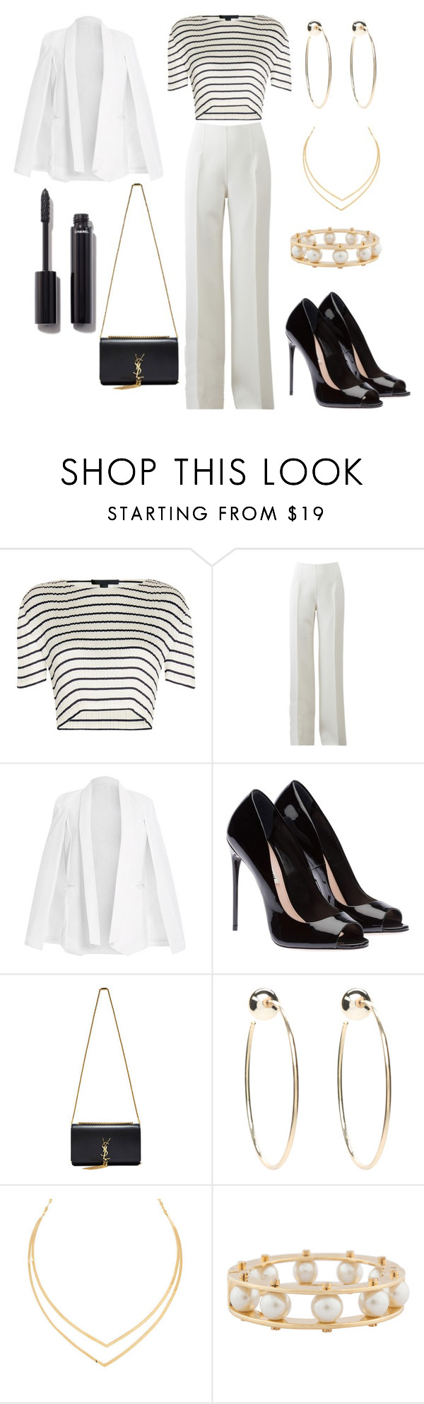 """Untitled #16"" by marymachabeli on Polyvore featuring Alexander Wang, Michael Kors, Yves Saint Laurent, Bebe, Lana, Lele Sadoughi and Chanel"